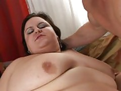 Nasty fat milf loves young cock