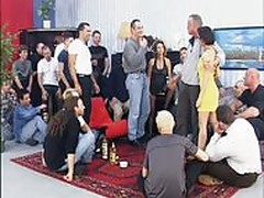 German mature gangbang by