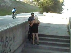 Blonde Has Sex Outdoor In