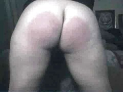 Amateur self spanking - 3
