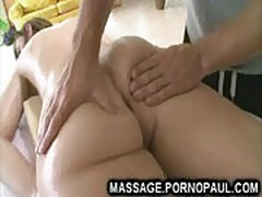 Teen fucked after butt massage