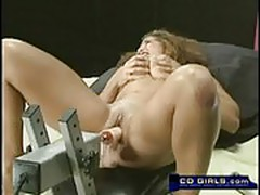 Big tit Latina and the fucking machgine orgasm