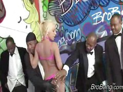 Jaelyn Foxgets bukkaked by ten blacks<br>
