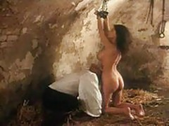 Slave chained and fucked