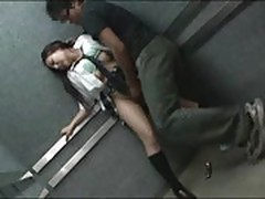 Schoolgirl abused in Elevator Part 2