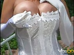 Busty Bride's Cunt Lick