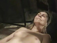 Mature amateur wife facial and masturbating hairy pussy<br>