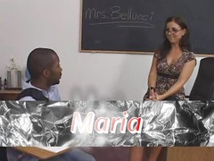 Female brunette white teacher