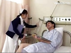 Cute Nurse Washing Guy Jerking Sucking His Cock On The Hospitals Bed<br>