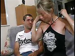 screaming blonde milf