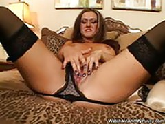 Lux may - masturbates with