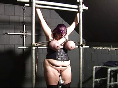 Tied big boobs, tits torture