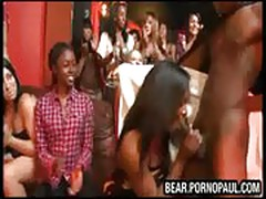 Black stripper sucked off at