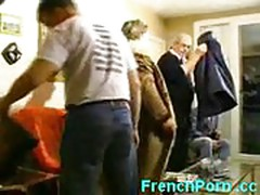 French men  gangbang mature horny slut