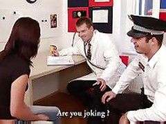 Girl fucked on a medical test