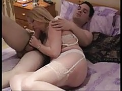British MILF pornstar Karen Kay getting fucked by lucky stud