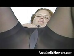 Pantyhose Clit Massage