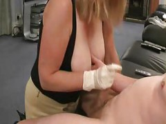 Great Handjob with BigTit Action<br>