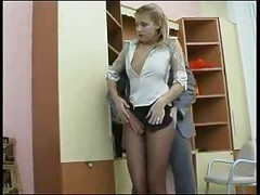 Russian office sex - russian ass<br>