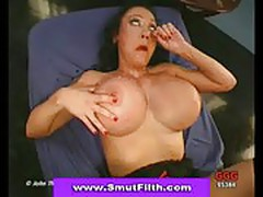 Two facialized bukkake babes swapping cum
