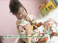 Iori Mizuki,  lovely japanese babe gets nipples licked and posing<br>