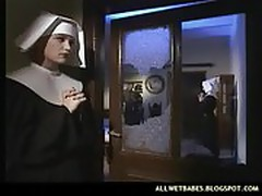 Horny nun enjoyed getting