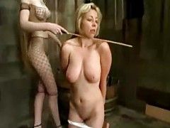 Blonde Girl Tortured With