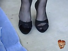 Halloween foot job trick or