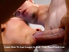 Brunette opens her vagina for dick