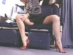 Pantyhose on a plane