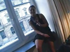 German slut fucked at the window!