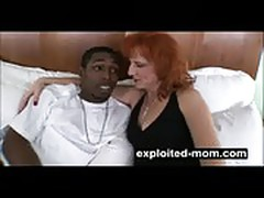 Mature mom gets big black dick