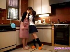 Petite Schoolgirl Kissing