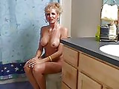 Mature blonde sex in the