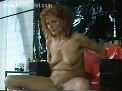 Milf slave with tiny tits got