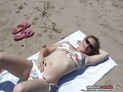 Sexy college bikini beach