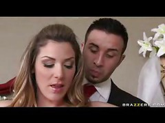 Sexy bride sucking a big
