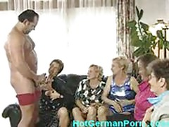 Horny german grandmothers masturbate and suck cock