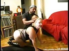 Blonde BBW analsex