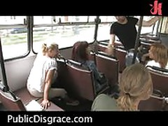 Hot public sex scene on the bus!