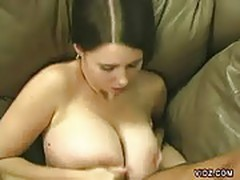 Brunette titty fuck