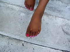 cute ebony feet