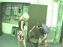 Nice Couple Gets Caught On Hidden Security Cameras In Air Conditioning Room Fucking And Getting Each Other Orgasm<br>