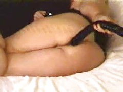 mature ass eats whole dildo on cam