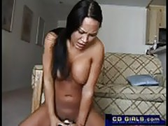 Aleah rides the sybian machine