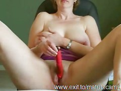 50 years Milf Daphne toys and cums<br>