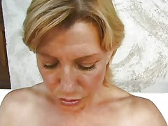 Colette Sigma mature blonde fist anal in car troia