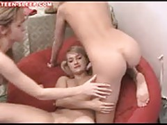 Teen lesbians lick and suck