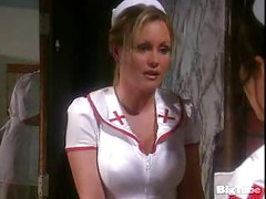 hot nurse gets titty fucked and facialed<br>