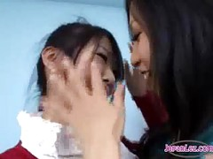 2 Asian Girls Kissing